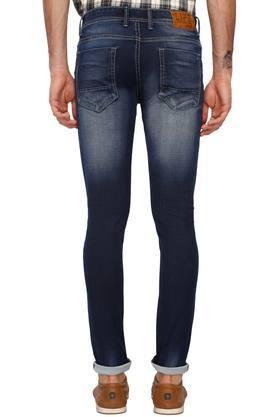 Mens 5 Pocket Heavy Wash Jeans