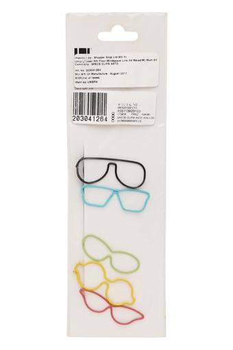 Multicoloured Specs Clips Art Wall Decor - Set of 5
