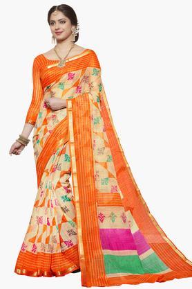 ISHINWomens Art Silk Printed Saree - 203495557_9111