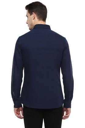 Mens Regular Fit Button-Down Collar Solid Shirt