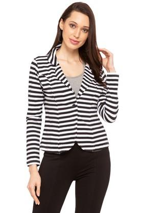 Womens Striped Casual Jacket