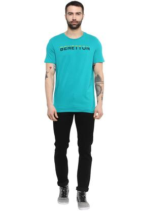 Mens Round Neck Graphic Print T-Shirt