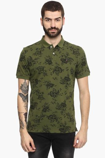 LOUIS PHILIPPE JEANS -  Olive T-shirts - Main