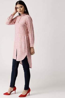 Womens Striped Shirt Style Kurta