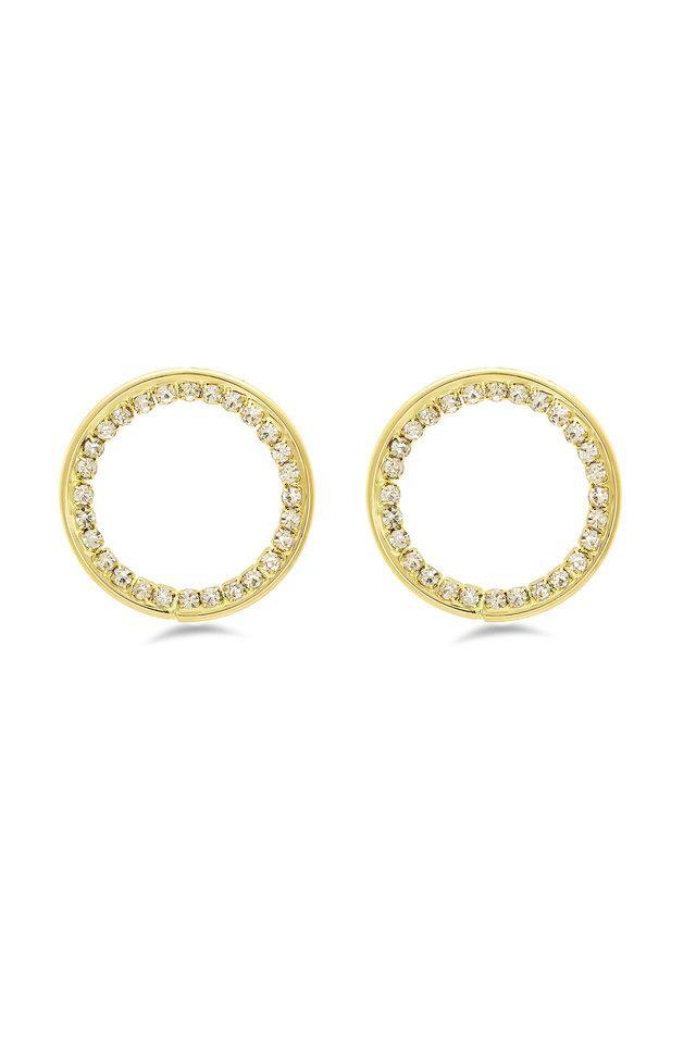 Womens Stone Studded Drop Earrings