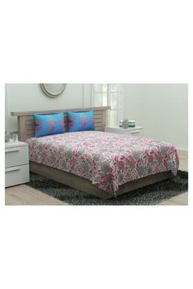 Floral Double Bedsheet with 2 Pillow Covers