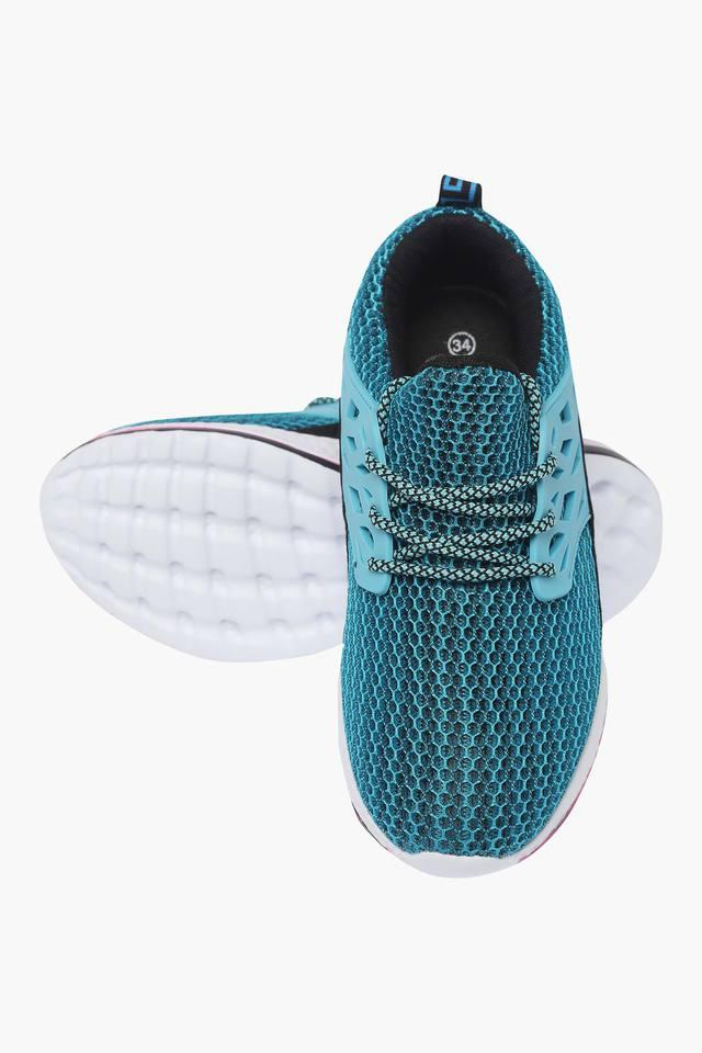 Girls Mesh Lace Up Sports Shoes
