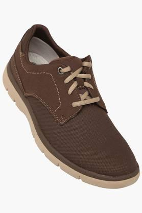 CLARKS Mens Synthetic Suede Lace Up Casual Shoes