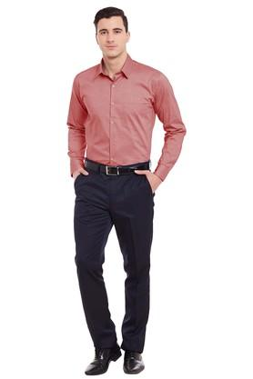 Mens Slim Fit Slub Formal Shirt