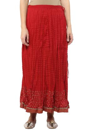BIBA Womens Printed Flared Long Skirt - 203041689