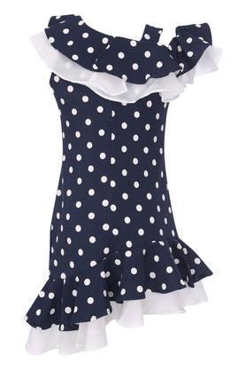 Girls Designer Neck Printed Dress