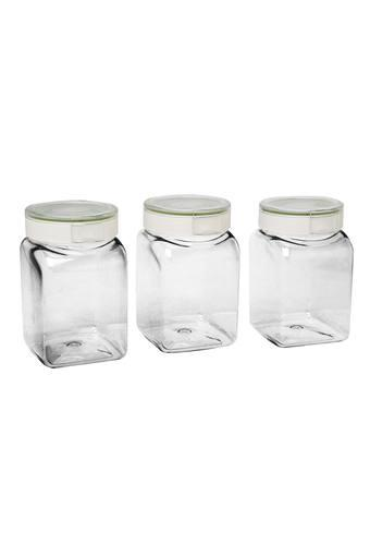 Transparent Jar with Lid Pack of 3