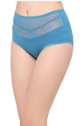 Womens Solid Lace Hipster Briefs