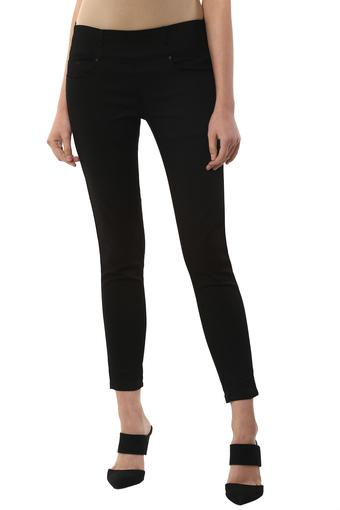 Womens 5 Pocket Coated Jeggings
