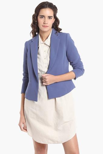 5a7ccaf1b5 Womens Lapel Collar Solid Blazer