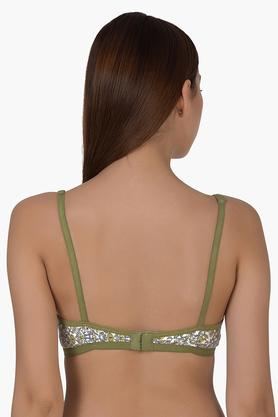 Womens Floral Print Non Wired Full Coverage Bra