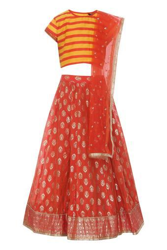 STOP -  Red Ghagra Choli - Main