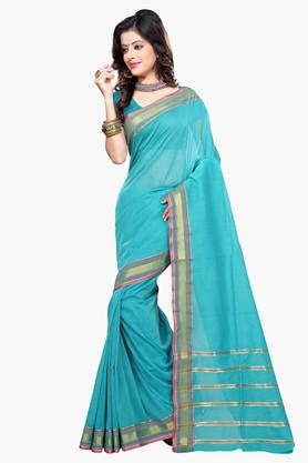 DEMARCA Womens Cotton Blend Printed Saree - 203229326