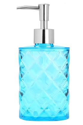 Round Transparent Textured Soap Dispenser