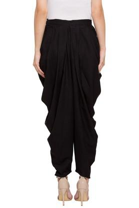 Womens Solid Casual Dhoti Pants