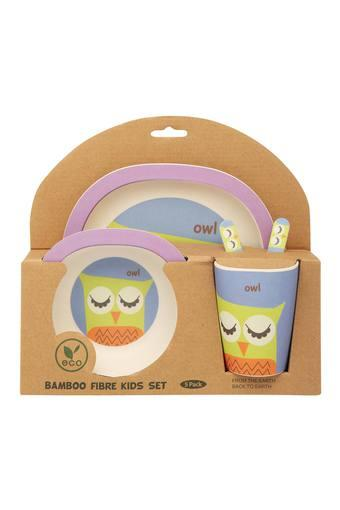 Kids Owl Printed Dinner Set of 5