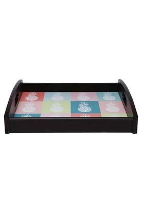 Square Printed Tropical Sphere Tray