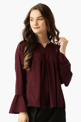 MARIE CLAIRE -  MaroonTops & Tees - Main