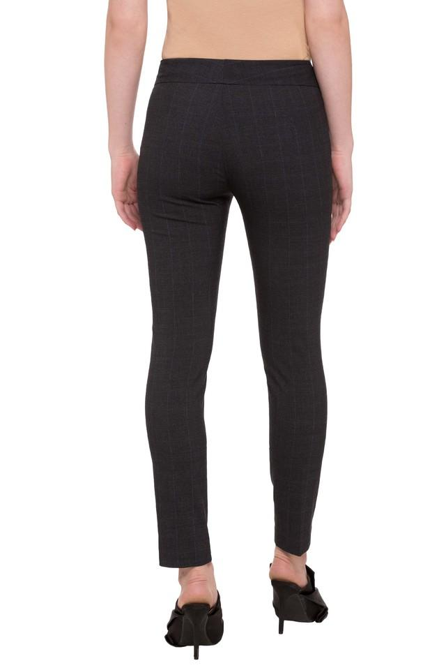 Womens Checked Casual Pants