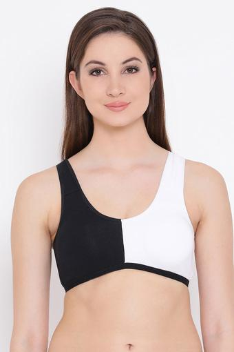 Womens Colour Block Padded Non Wired Full Coverage Bra