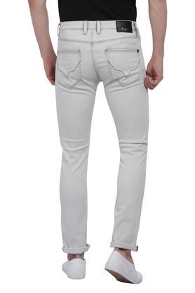 Mens 5 Pocket Ice Wash Jeans