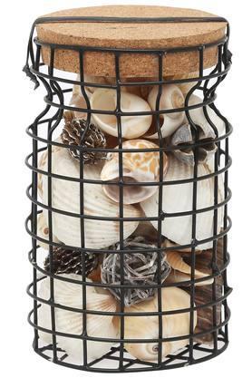 Metal Cage Shell Jar