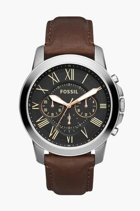 Mens Chronograph Leather Watch - FS4813I