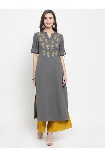 VARANGA -  GreySalwar & Churidar Suits - Main