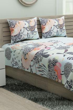 SPACES Printed Utopia Single Bedsheet With Pillow Cover - 204824924_9900