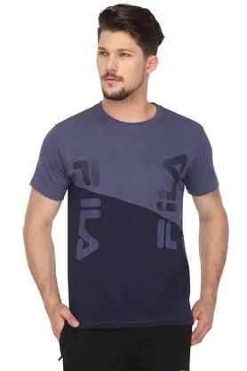 FILA Mens Round Neck Colour Block T-Shirt