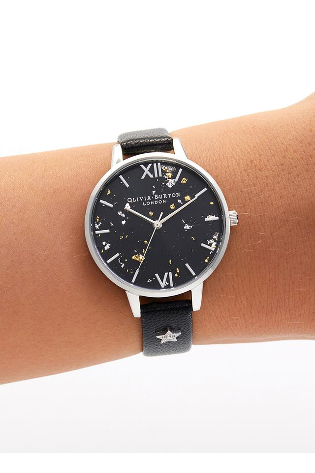 Womens Round Dial Leather Analogue Watch - OB16GD13W