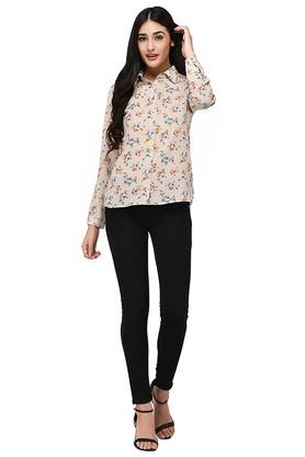 Womens Collared Printed Shirt