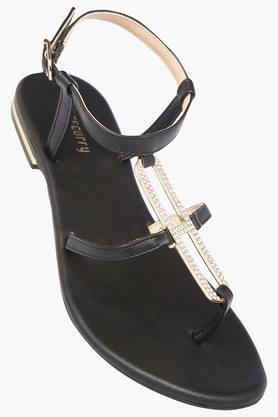 HAUTE CURRYWomens Casual Wear Buckle Closure Flats - 203288265_9212