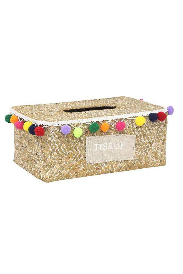 Seagrass Rectangular Tissue Box with Lid