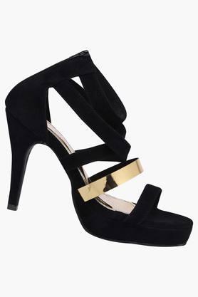 Womens Party Wear Zipper Closure Heels