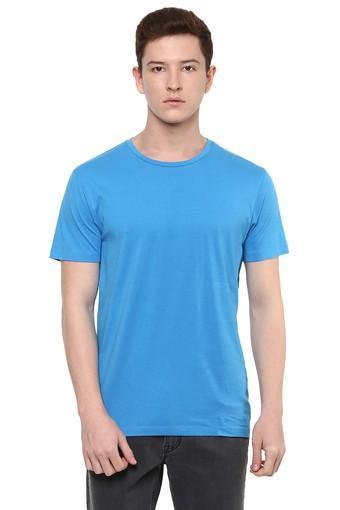 Mens Slim Fit Round Neck Slub T-Shirt