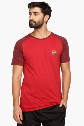 FIFA Mens Round Neck Colour Block T-Shirt