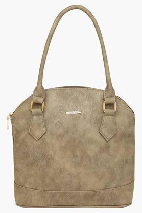 HAUTE CURRYWomens Zipper Closure Satchel Handbag