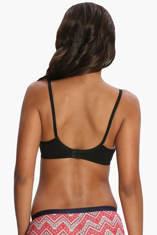 Womens Non Padded Non Wired Solid Full Coverage Bra