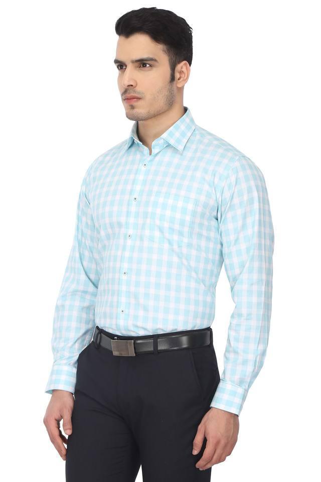 Mens Checked Formal Shirt