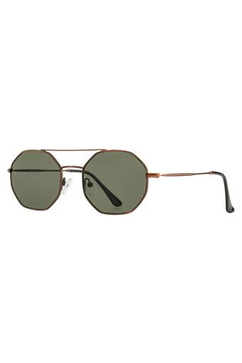 Unisex Browline Polycarbonate Sunglasses