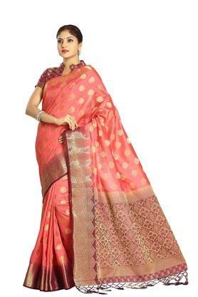 DEMARCA Womens Art Silk Tussar Designer Saree - 204100140_9506
