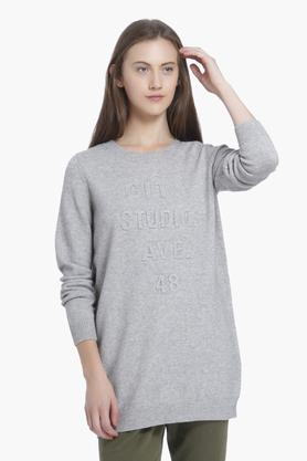 VERO MODAWomens Round Neck Slub Sweatshirts