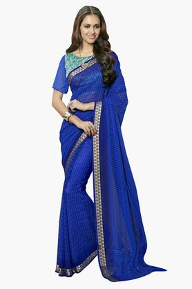 DEMARCA Womens Faux Georgette Printed Saree - 203229628