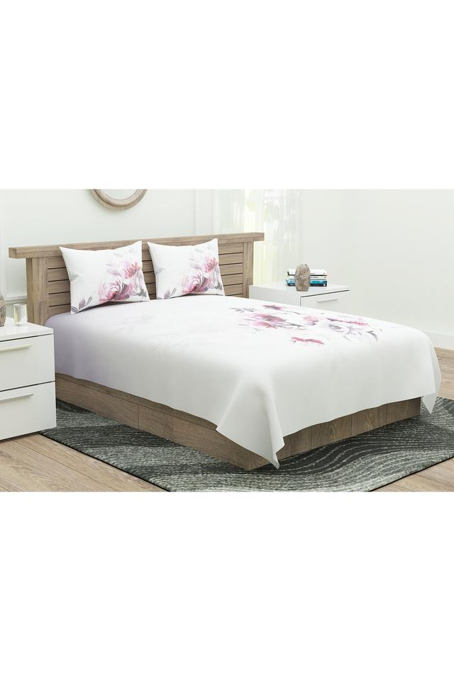 Floral Printed Extra Large Bedsheet with Pillow Covers
